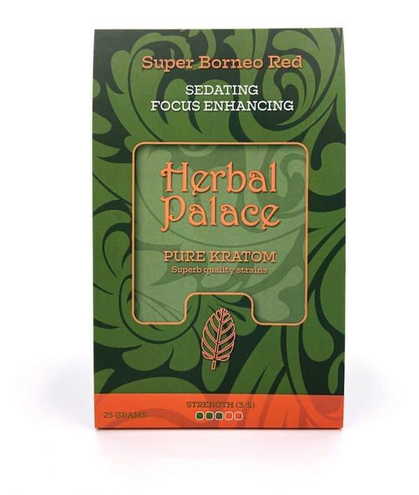 Kratom Borneo Red van Herbal Palace. Rust, ontspanning, relax en focus.