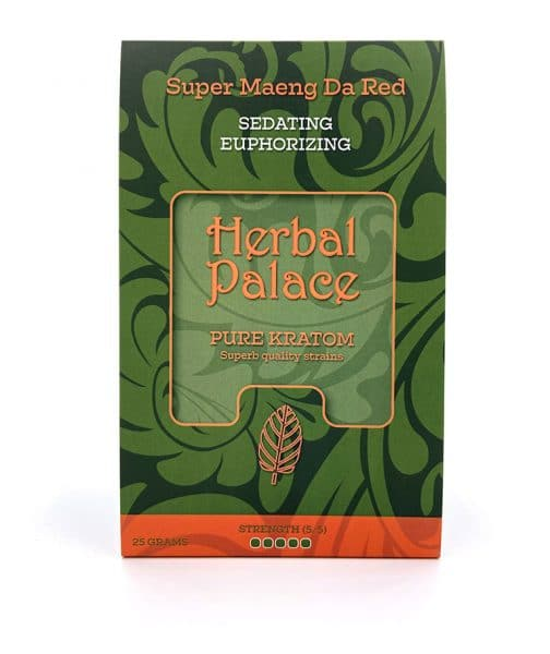 Maeng Da Red Kratom van Herbal Palace - verdovend, relax, ontspanning en euforie