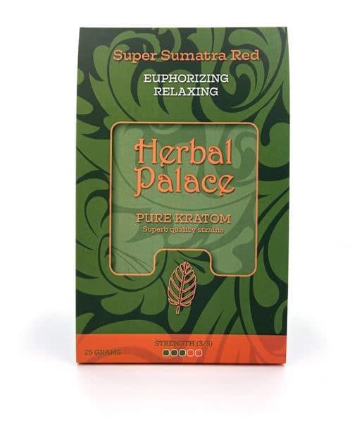 Sumatra Red Kratom van Herbal Palace - euforie en rust, relax, ontspanning en libido