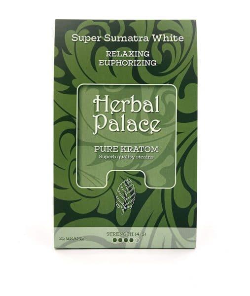 Sumatra White Kratom van Herbal Palace - rust, relax, ontspanning, euforie en libido