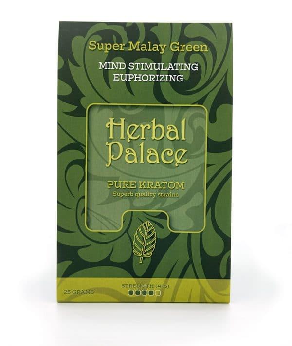 Malay Green Kratom van Herbal Palace - Mind stimulating, euforie en libido.
