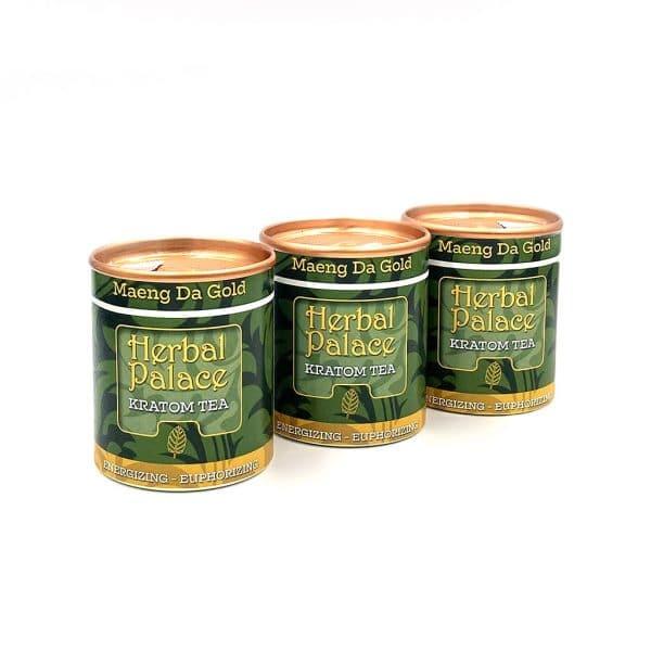 Kratom thee Maeng Da Gold voordeelpakket van Herbal Palace. Energie en euforie