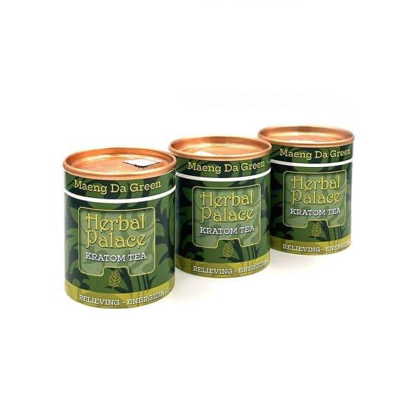Kratom thee Maeng Da Green voordeelpakket van Herbal Palace. Pijnstillend en een bron van energie