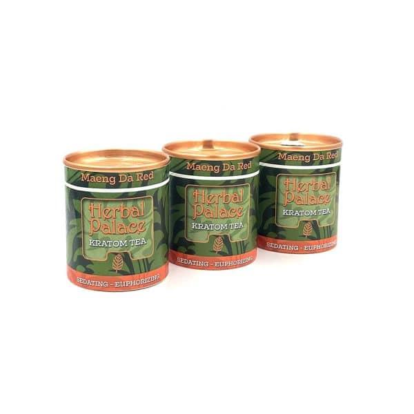 Kratom thee Maeng Da Red voordeelpakket van Herbal Palace. Verdovend, ontspanning, relax en euforie.