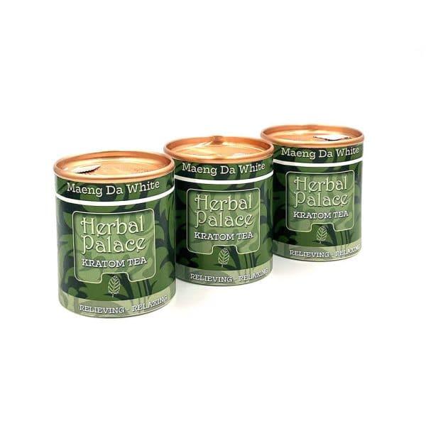 Kratom thee Maeng Da White voordeelpakket van Herbal Palace. Pijnstillend en ontspannend. Relax.