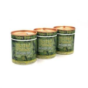 Kratom thee Malay Green Voordeelpakket van Herbal Palace. Mind stimulating, euforie en libido.