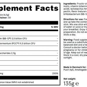 Puori Probiotica SB3 Supplements Facts Voedingssupplementen