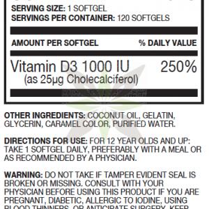 Puori vitamine D3 supplements facts